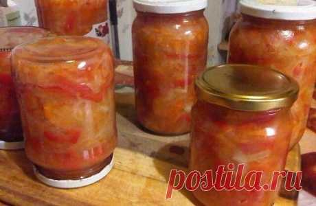 """САЛАТ """"БАЛАТОН"""" (на зиму)  Наверное, многие помнят замечательные венгерские консервы, которые продавались в наших магазинах в советское время. Этот салат очень напоминает о том времени. Угощайтесь.  ИНГРЕДИЕНТЫ:  помидоры красные 2 кг лук репчатый 2 кг морковь 1 кг болгарский перец 1 кг растительное масло без запаха 1,5 стакана уксус 9% 0,5 стакана соль 2 ст.ложки с горкой сахар 1,5 ст.ложки с горкой лавровый лист ( я не кладу)  СПОСОБ ПРИГОТОВЛЕНИЯ САЛАТА """"БАЛАТОН"""":   Мое..."""
