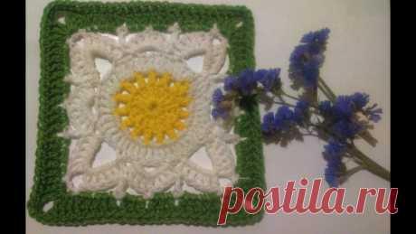 Бабушкин квадрат крючком   Вязание крючком для начинающих Этот мотив всегда в моде))):
