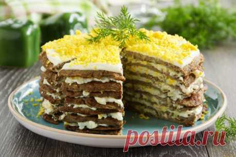 Печеночный торт из свиной печени — 6 рецептов как вкусно приготовить сытный торт | Кулинарушка - Вкусные Рецепты