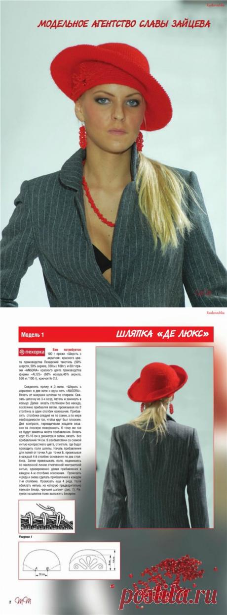 """Hat \""""Luxury\"""" - Model agency of Slava Zaytsev."""