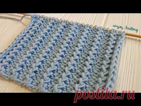 КРАСИВЕЙШИЙ Узор Спицами - ФРАНЦУЗСКАЯ резинка / Rickrack Rib Stitch Knitting Tutorial