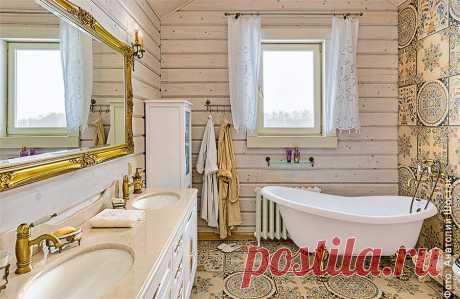 Ванная комната в деревянном доме: обустройство пола, стен и потолка Ванная комната в деревянном доме: особенности домов и обустройство полов, потолка и стен. Канализация и водопровод, вентиляция, правила выбора дизайна.