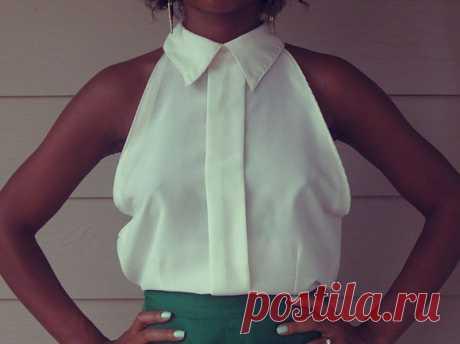 DIY: Turn a Button-Down into a Cute Sleeveless Blouse | lovelyish