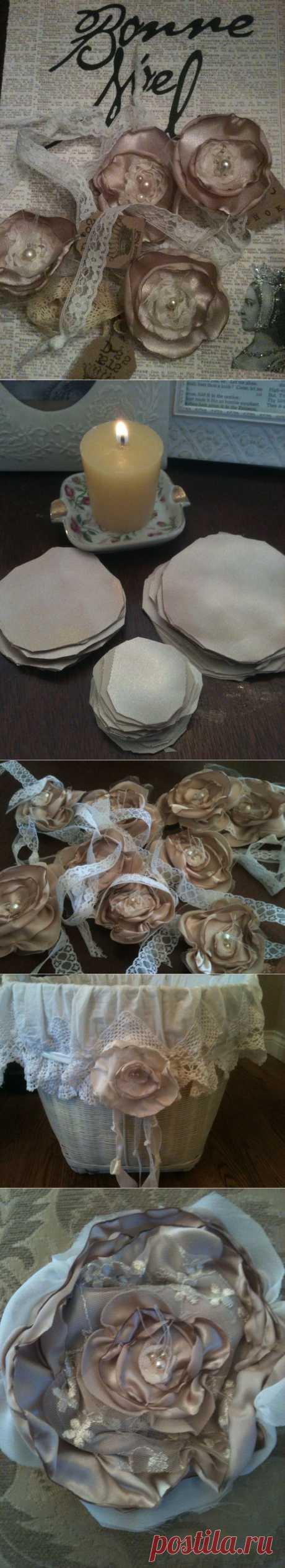 Винтажные цветы от Бонни Брунс. Мастер-класс.