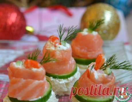 Рулетики из семги с деликатесной начинкой – кулинарный рецепт