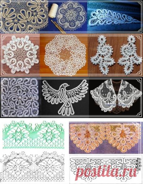 Kruzhevopletenie ha aparecido en Rusia mucho después de bordado, los acabados más antiguos de encajes son cumplidos de metálico – los hilos de oro y de plata...