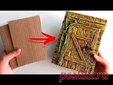 DIY Simple Notebook decor | Cardboard idea | Paper craft - YouTube