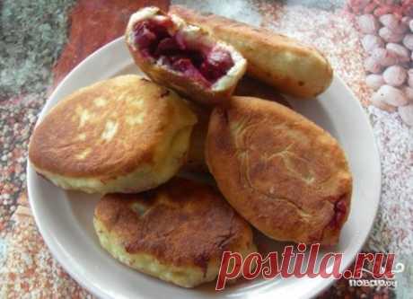 Пирожки с вишней на сковороде - пошаговый рецепт с фото на Повар.ру
