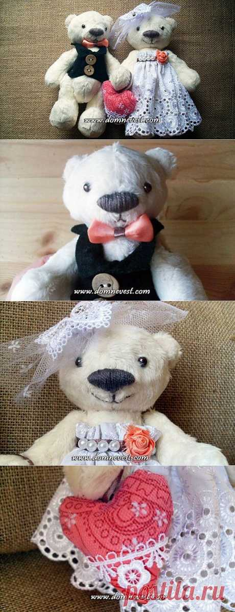 Свадебные медвежата своими руками | Дом невест