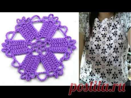 Цветочный мотив с плотными лепестками   Floral motif