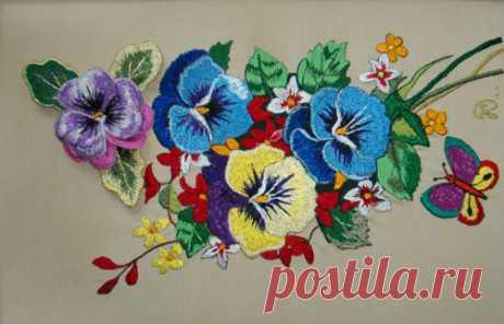 Вышивка цветов способна украсить любой дом | Изображения (фотографии) цветов