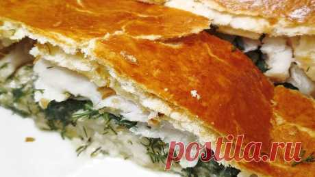 Скандинавский рыбник в слоёном тесте. Сочный, нежный и сытный рыбный пирог (готовится легко и просто) | Розовый баклажан | Яндекс Дзен