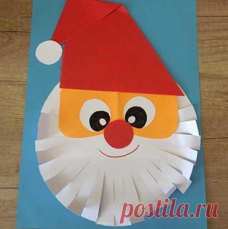 Дед Мороз из бумаги — Поделки с детьми