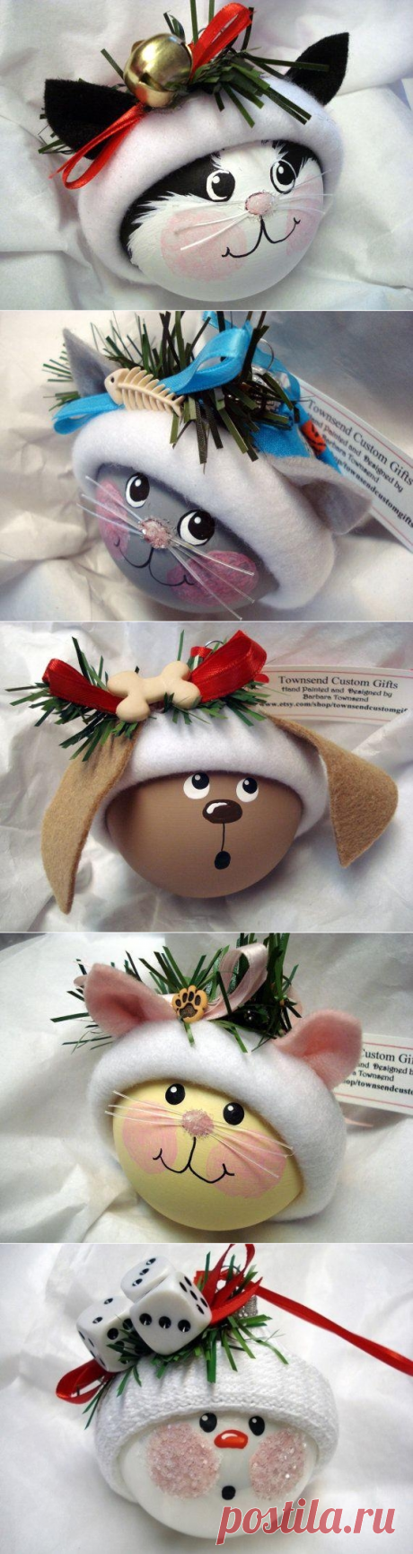 Замечательные идеи как расписать новогодние шарики:)
