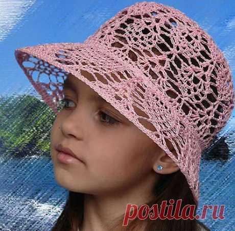 Летняя шляпка крючком для девочки | Вязание Шапок - Модные и Новые Модели