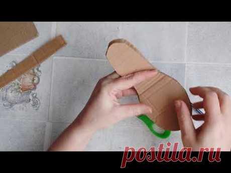 Как сделать подарок женщине из картона и джута своими руками