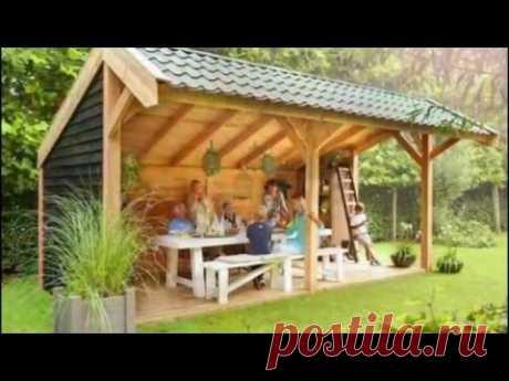 Простые деревянные беседки: 100 красивых вариантов для дачи