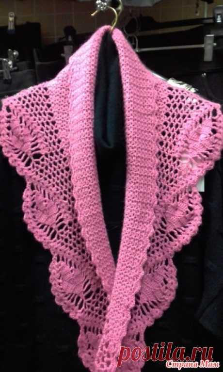 . Ажурный шарфик - Вязание - Страна Мам