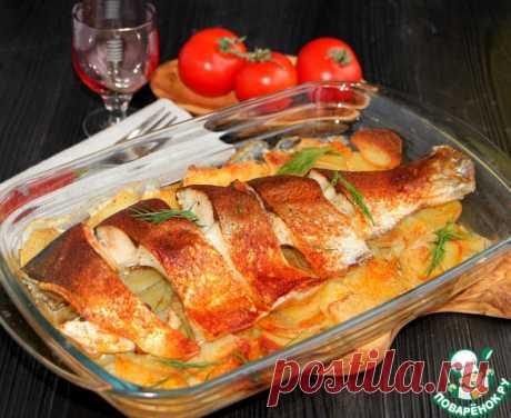 Рыба с картофелем под масляной корочкой