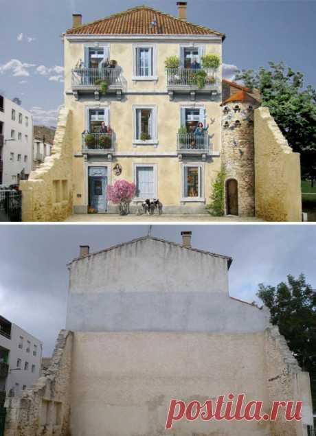23 примера невероятной трансформации невзрачных фасадов в великолепные произведения искусства