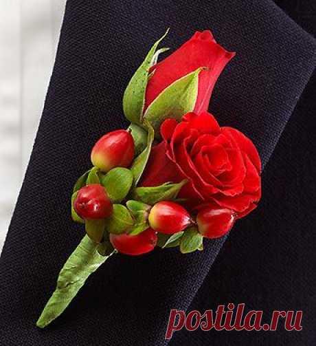 Акция при покупке свадебного букета !!! При заказе свадебного букета (букет невесты) бутоньерка и лепестки роз в подарок !