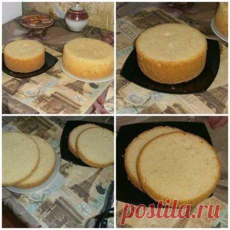 Как приготовить пышный бисквит для тортов - рецепт, ингредиенты и фотографии