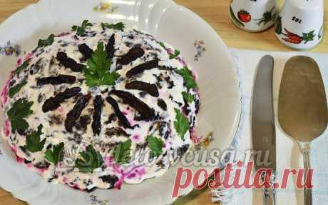 Салат Гренадер пошаговый рецепт (12 фото)