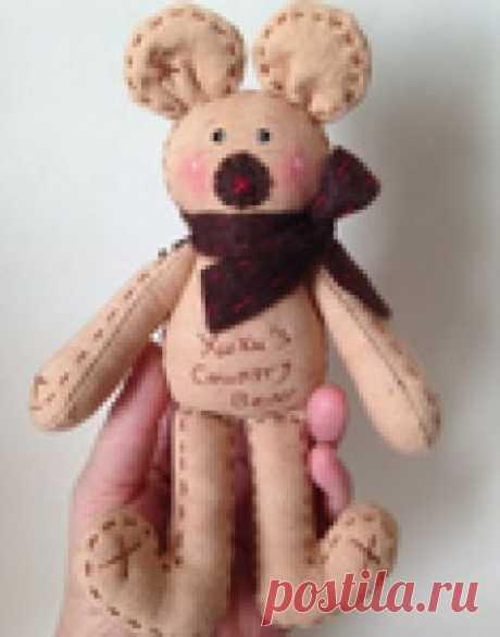 Шьем текстильного медвежонка. Фото мастер-класс