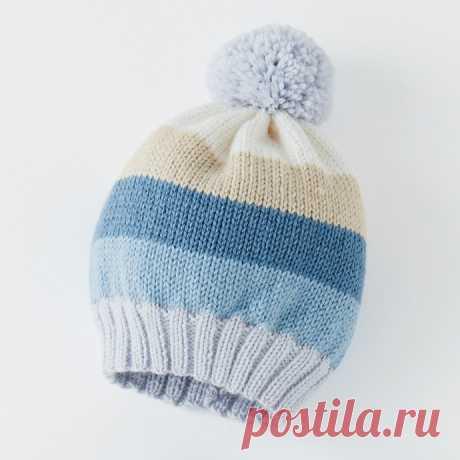 Вяжем милую детскую шапочку из категории Интересные идеи – Вязаные идеи, идеи для вязания