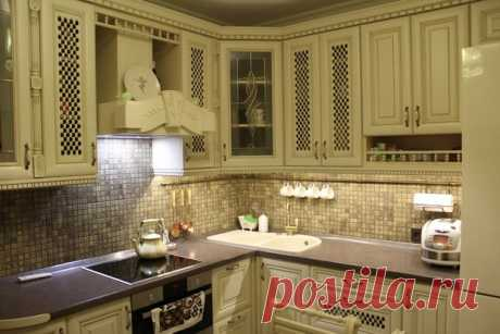 Кухня: светлая классика на 9 квадратах. | Obustroeno.Com
