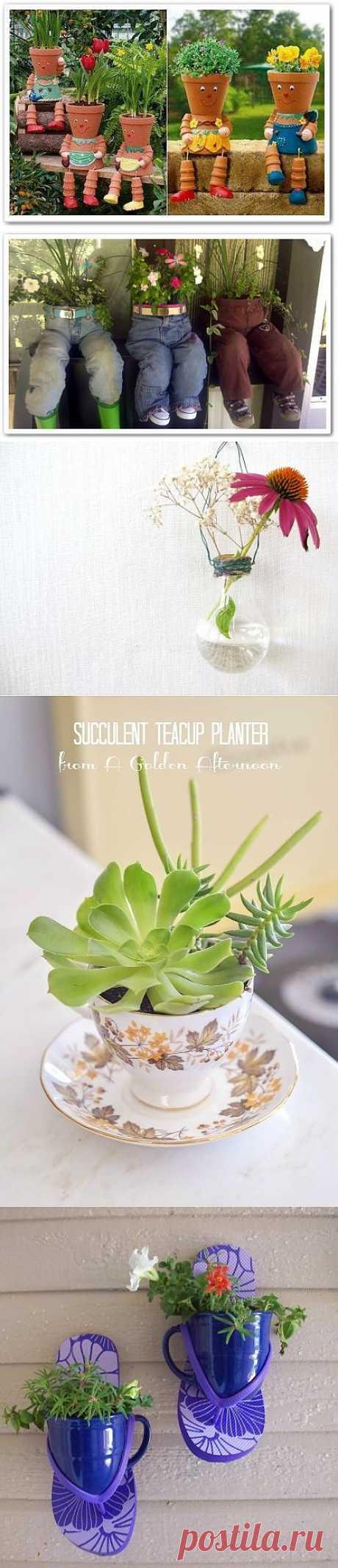 """Идеи """"домиков"""" для домашних цветочков ....."""