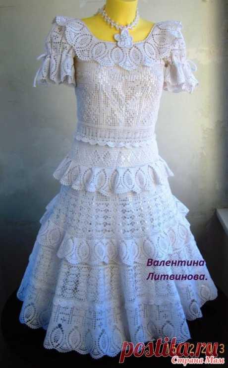 """Платье """" Роскошное"""" (мало схем)"""