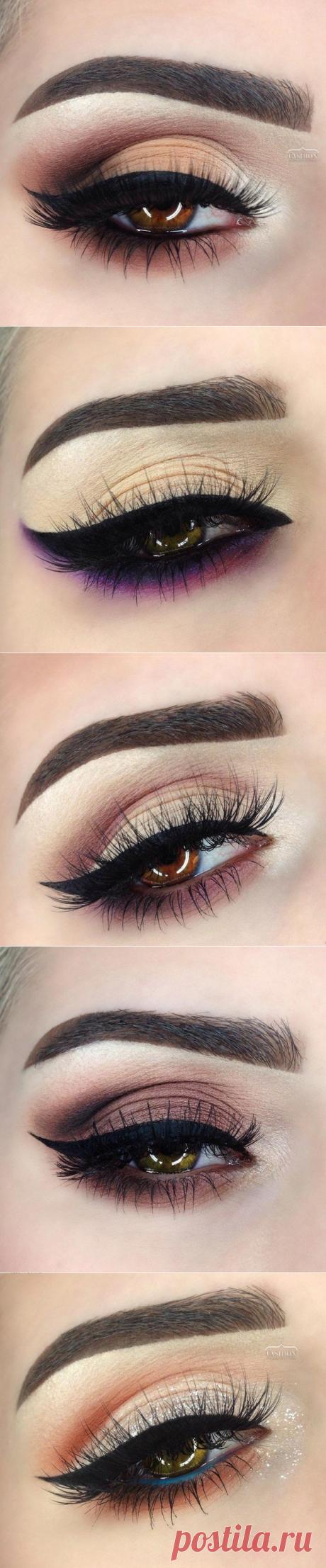Идеи красивого макияжа глаз.
