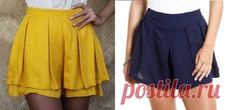 Short saia com pregas e sobreposição | DIY - molde, corte e costura - Marlene Mukai