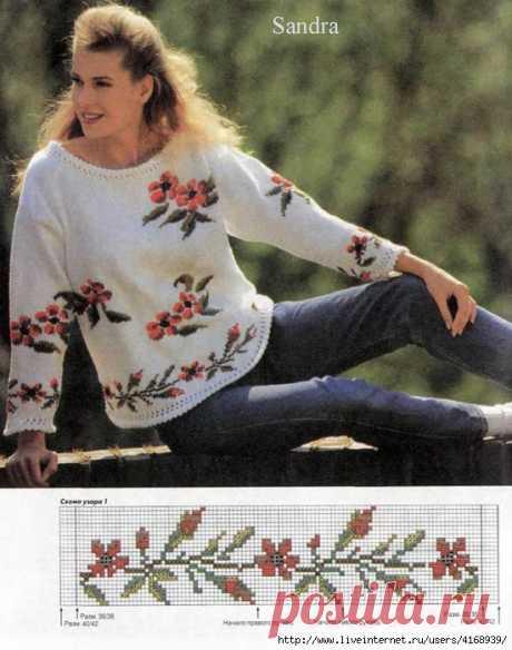 """Пуловер  """"Пора цветения"""""""