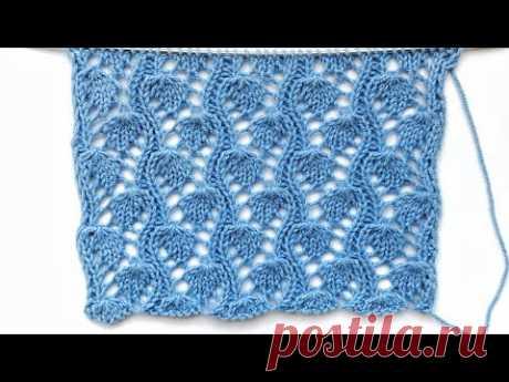 Оригинальный ажурный узор Мелкие ягодки спицами для летнего вязания