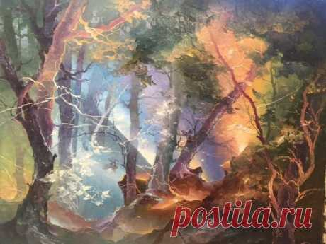 Волшебные картины литовского художника Петраса Лукосиуса, который рисует свет