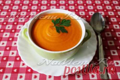 Томатный суп с чечевицей, вегетарианский рецепт