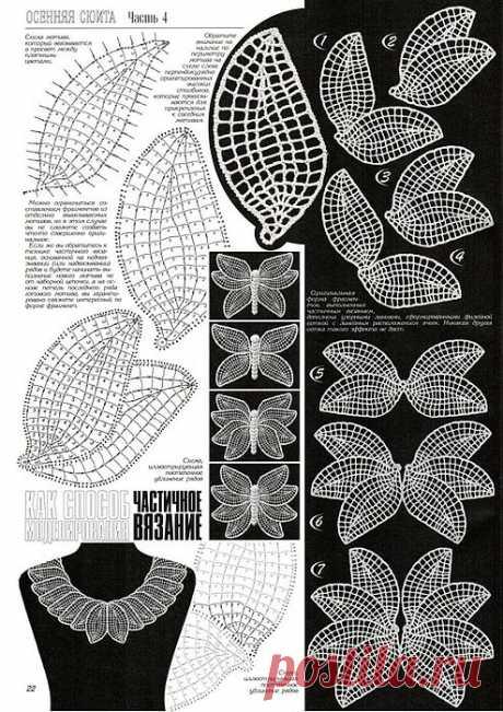 Частичное вязание - Контрастные рисунки.