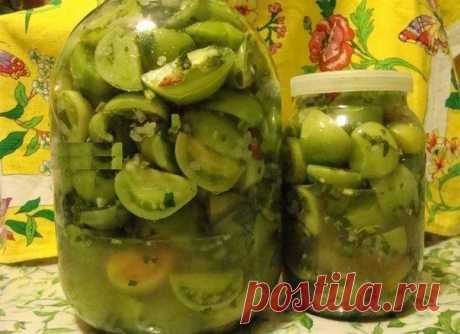 Бесподобно вкусные зеленые помидоры на зиму от армянки!