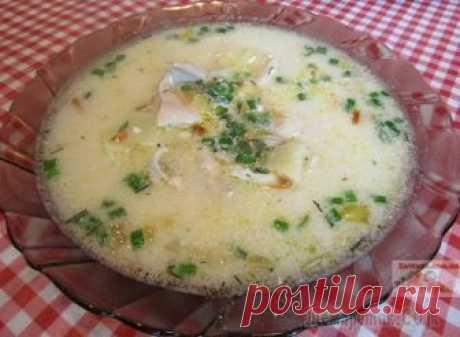 Суп с плавленым сыром и курицей