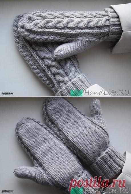 Красивые варежки спицами / Вязание