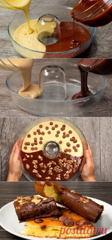 Двухцветный кекс