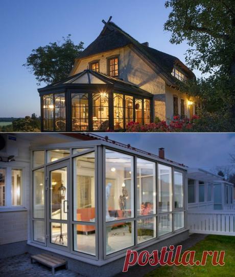 Веранда к дому с пластиковыми окнами: проекты из бруса, кирпича и металла