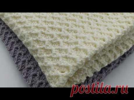 МК. Детский плед крючком (часть 2). Бесплатный МК крючком. Новый узор крючком.Crochet baby blanket