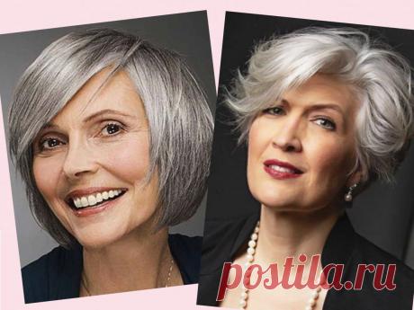 Какие стрижки выбрать женщинам 50+, чтобы не выглядеть как молодящаяся дива | О красоте с Натальей Кононовой | Яндекс Дзен