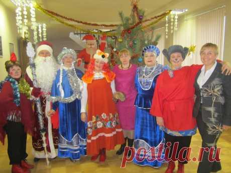 участники новогоднего представления