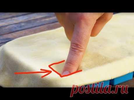 Прижимаем тесто к форме для льда и запекаем. Невероятно!