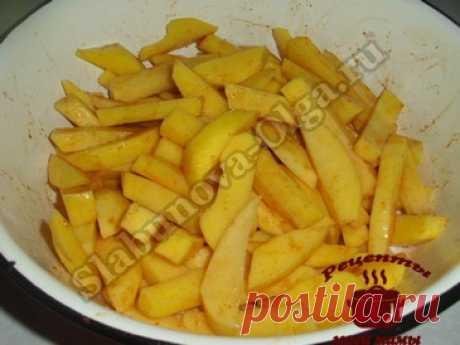 Картофель в духовке, почти как картофель фри. Рецепт. Фото