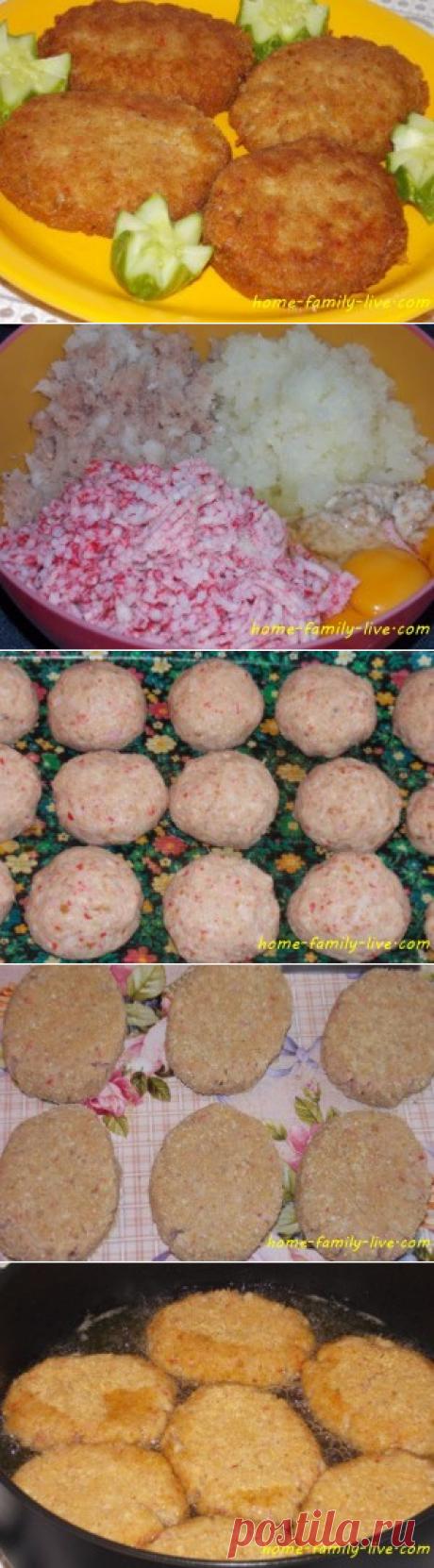 Рыбные котлеты/Сайт с пошаговыми рецептами с фото для тех кто любит готовить